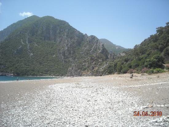 Anatolia Resort Hotel: Western End of Cirali Beach towards Olympos