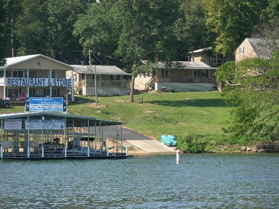 Lakeside Resort Restaurant & General Store: The Lakeside Resort and General Store as seen from the lake.