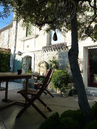 Pleasant garden at Chez Marie