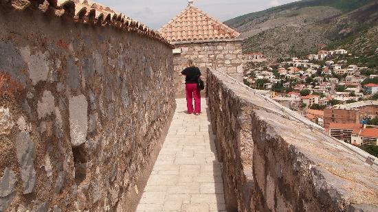 Senj, Croatia: Walls of the castle