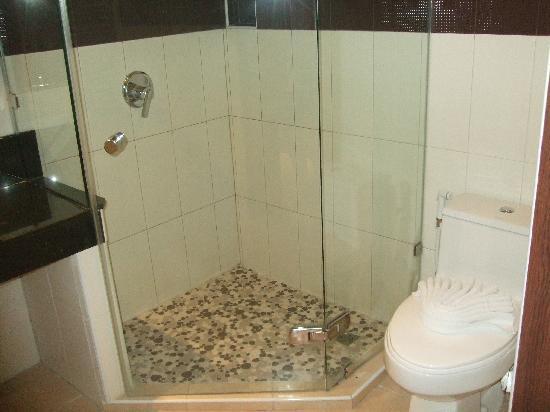 Thanthip Beach Resort: Bathroom standing shower