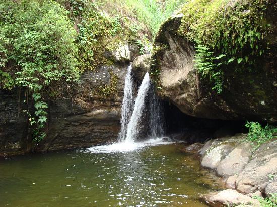 Vythiri, India: Natural stream and pool