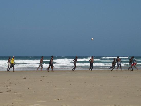Port St Johns, South Africa: Soccer on the beach