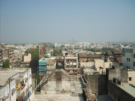 Nashik, India: From the top of our hotel