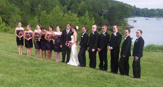 Asticou Inn: The wedding party