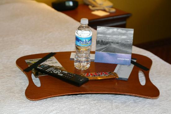 Hampton Inn Louisville I-65 @ Brooks Rd.: Lap Desk for Guest use