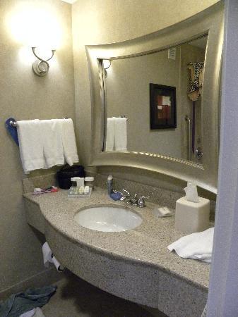 Hilton Garden Inn Toledo Perrysburg: Spacious bathroom with large vanity