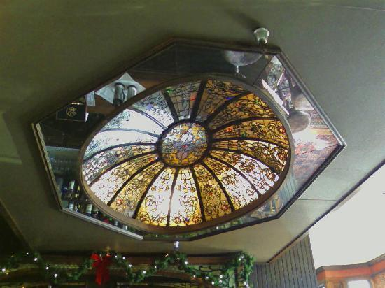 Victorian Dining Room & Garden Room: Check out this stained glass dome it's huge!