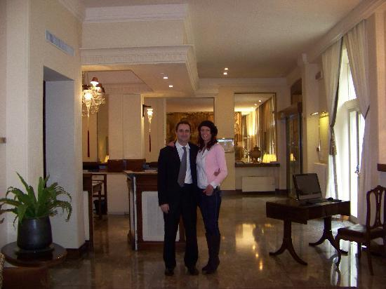 Hotel Francia e Quirinale: Me and Marco in the foyer