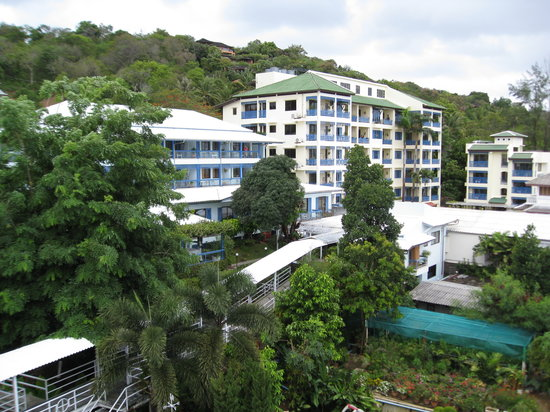 Kantary Bay, Phuket: hotel from roof pool