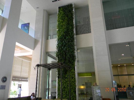 ITC Gardenia, Bengaluru : Wall garden in the lobby