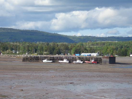 Gillespie House Inn : Tide out in downtown Parrsboro!