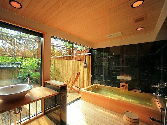 Garden bathroom with traditional japanese style 16tatami - Ryokan tokyo with private bathroom ...