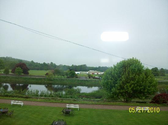 Ednam House: the view from our room