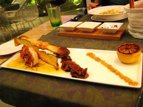 Amici: Tiger Prawns with Fried Zucchini