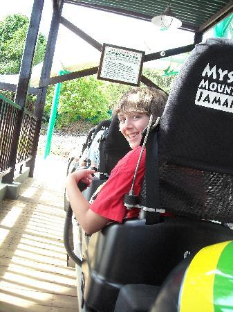 Rainforest Bobsled Jamaica at Mystic Mountain: My son and I connected