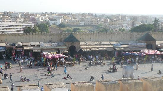 Most famous Meknes square