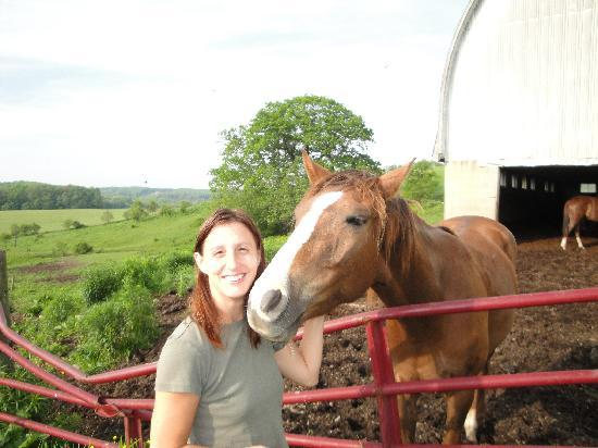 Haley Farm Bed and Breakfast and Retreat Center: Me with the horse