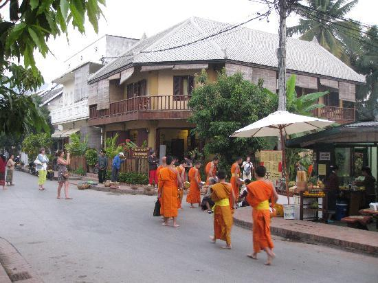 Villa Champa with morning offering to monks