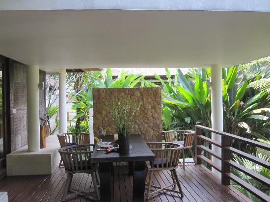 The Purist Villas and Spa: Private balcony at Timor Villa