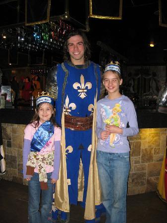 Medieval Times Buena Park: My kids with their hero, the blue knight at Buena Park, CA Medieval Times show on 6/1/2010