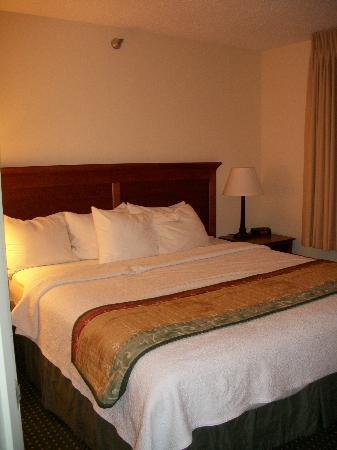 TownePlace Suites Sioux Falls: The bedroom which includes a nice sized closet.