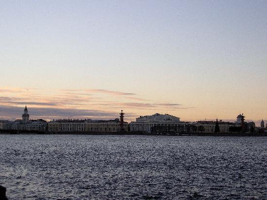 St. Petersburg, Russia: Petersburg Skyline across River Neva
