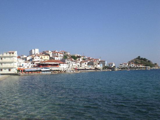 Poseidon Hotel Kokkari Samos Greece: View of Kokkari and Poseidon