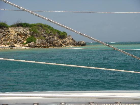 Private Yacht Charter SXM - Day Trips: View from the catamaran