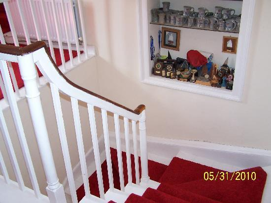Elegant Staircase inside Bayly Farmhouse