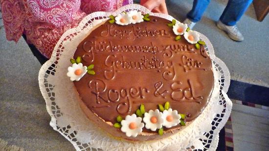 Zur Alten Brücke: dark chocolate raspberry cake