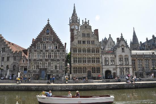 Belgien: Gante, el canal.