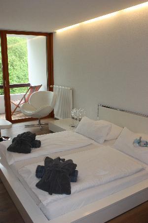 Hotel Walliserhof im Brandnertal: Schlafzimmer