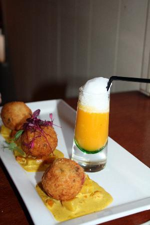 Green Olive Restaurant: The cod bon bons