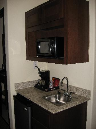 Comfort Suites San Antonio North - Stone Oak: In Room food prep area with Refrigerator, Micowave, Coffee Maker and Sink