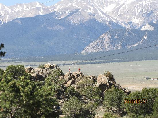 KOA Campground: view of the rock formations and mountains