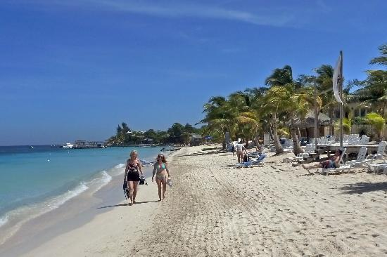 Casa de Paradise: Walking down West Bay Beach