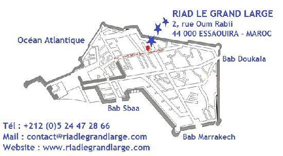 Riad Le Grand Large: Map - Plan d'accès au Riad