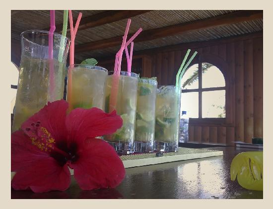 Albatross Hotel: ..Some of the 'beauties' served at the friendly bar..