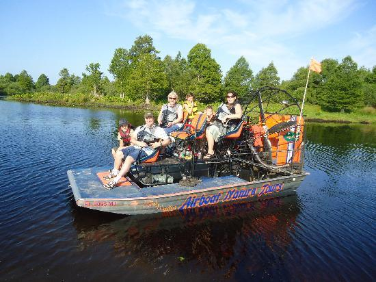 Alligator's Unlimited  Airboat Nature Tours: us all on the boat