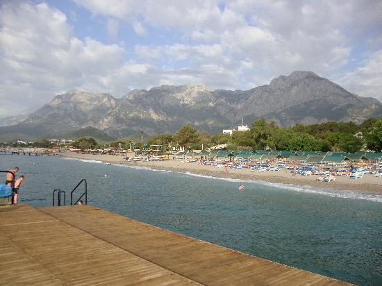 Kemer Holiday Club: View from the jetty, the mountains behind the hotel