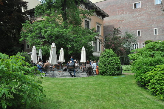 Berlin, Germany: the outdoor cafe and garden