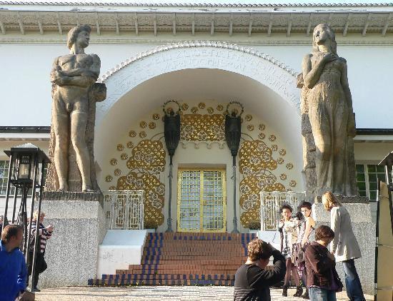Mathildenhöhe und Jugendstilkolonie: Ernst Ludwig Haus, 1901, Eingangsportal
