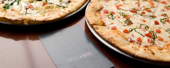 Social Restaurant + Wine Bar: All pizzas are baked in our authentic Rosito Bisani wood-burning pizza oven shipped directly fro