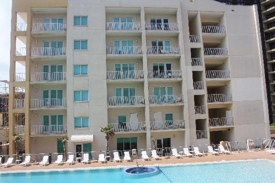 Peninsula Island Resort & Spa: View of pool and second condo building