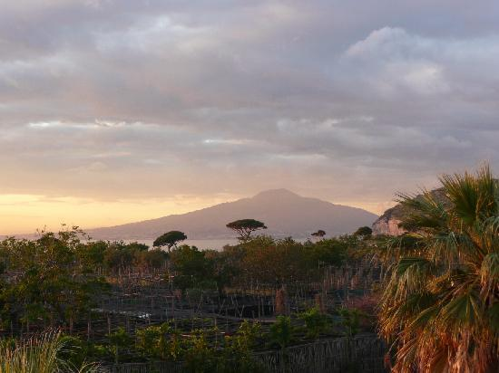 Sant'Agnello, Włochy: View from our balcony of Mount Vesuvius