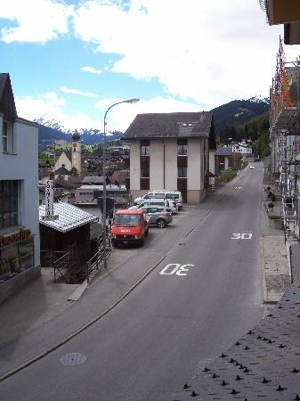 Hotel Alpsu: Disentis' main street - from our hotel room window