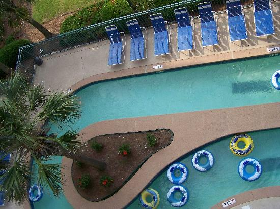 The Verandas: View of Lazy River from Balcony