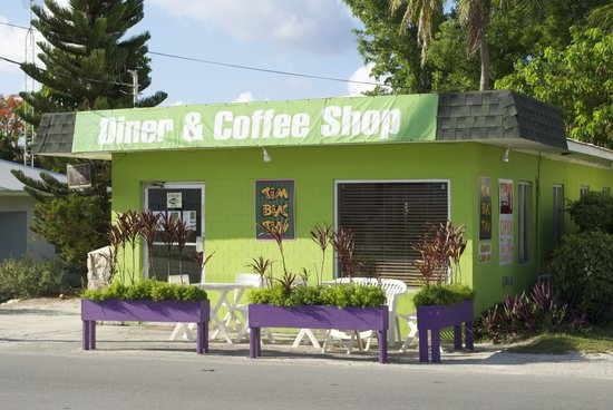 Tim-Buc-Tuu Diner: The outside of the restaurant from the road