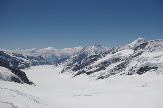 Bernese Oberland, Switzerland: A view from the top of Europe 11,782 ft